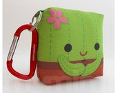Toy Keychain, Green Pillow, Cactus, Kawaii Pillow, Backpack Charm, Kids Toys, Party Favor, Stocking Stuffer, Holiday Gift
