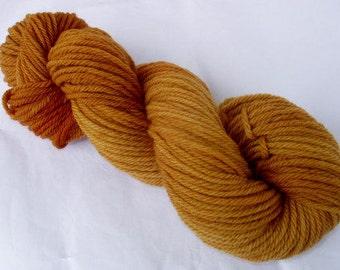 Hand painted pure wool yarn, aran yarn, worsted weight yarn, DARK DESERT, knitted felting yarn, felting yarn, 3.5oz/100g