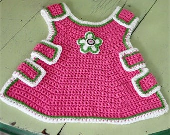 Crocheted Baby Pinafore Pattern PDF