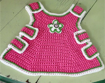 Crocheted Baby Pinafore Pattern PDF