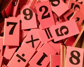 20pcs TINY VINTAGE NUMBERS Anagram Tiles Lucky Dip
