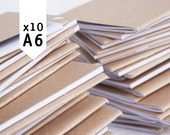 BLANK 10 pack, recycled, made in Australia, A6 notebooks
