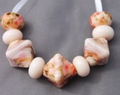 Elizabeth Creations DAYDREAMER artisan lampwork handmade glass beads SRA