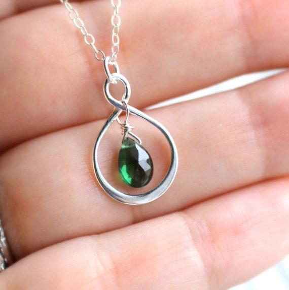 18th Birthday Necklace Sterling Silver Custom Birthstone: Items Similar To Emerald Necklace, Emerald Birthstone