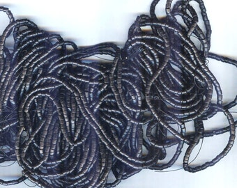 "Jet Black Coconut Shell Heishi Beads 2-3mm 23"" Strand"