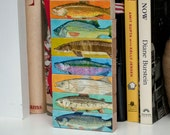 Fish Art- Fish Sticks- Freshwater Fish Art Block Set of 7- Coastal Beach Decor- Beach House Art for Dad- Gift for Dad- Lake House Fish Print