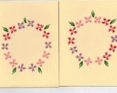 Embroidered Handmade Blank Flower Circle Greeting Cards