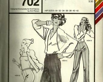 Vintage Ann Person Slim Pants Pattern 702