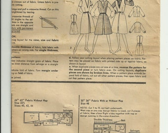 Vintage Simplicity Women's Jumper and Blouse Pattern 5609