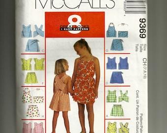 McCalls Children's Tops, Shorts, and Skort Set Pattern 9369