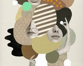 Girls Rock / Art Print / Collage / Abstract / Illustration / Giclee print