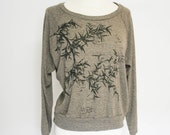 Black Bamboo Slouchy Pullover