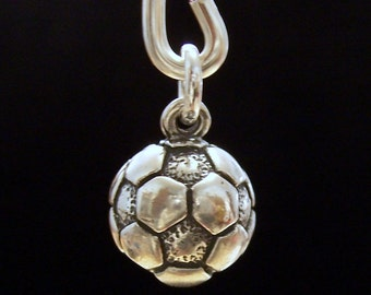 Soccer Ball Charm - Sterling Silver Soccer Charm