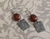 Silver Copper earrings
