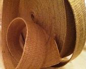 "Jute Webbing Ribbon - 2"" wide - Natural Fiber for Arts, Crafts, Sewing and Decor - 1 Yard"