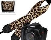 Leopard Camera Strap Deluxe Padded Camera Shoulder Strap Women's Dslr Camera Strap  Nikon Canon Binocular Strap Cheetah MTO