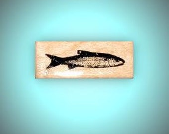 realistic FISH mounted rubber stamp, men, masculine, Father's Day, bullet or art journaling, Sweet Grass Stamps No.14