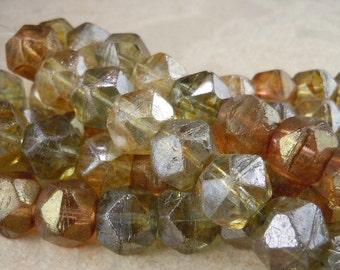 Czech Glass Beads 10mm English Cut Luster Assortment - 12