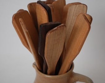 Handcrafted Maple Wooden Spatulas, Stirring Spoons, Kitchen Utensil Made in America