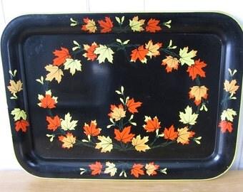 vintage large maple leaf tray