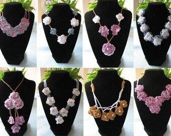 8 Flower Necklace Designs Crochet Pattern
