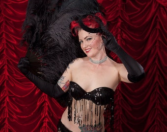Burlesque Flapper Sequins Bra and Shimmy Belt