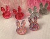 Sparkly Bunny Stud Earrings