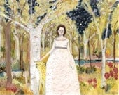 her bravery knew no end - limited edition giclee print of original oil painting