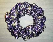 Poly-Satin Hair Scrunchie, Fashion Ponytail Holder, Fabric Hair Tie, Dimensions