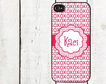 iphone 6 case Personalized Valentine's Day iPhone Case - Valentine's Day Cell Phone Case - iPhone 5 Case - iPhone 4,4s - Pink xoxo