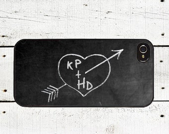 iphone 6 case Personalized Chalkboard iPhone Case -Valentine's Day Cell Phone Case - iPhone 5 Case - iPhone 4,4s - Love