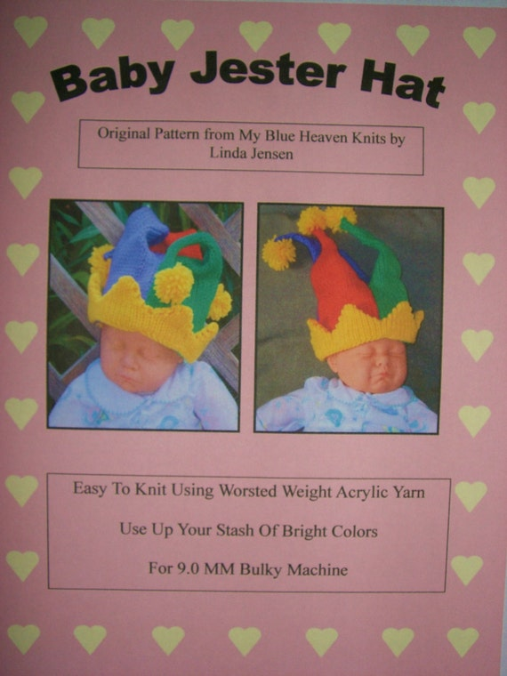Knitting Pattern For Baby Jester Hat : Baby Jester Hat Machine Knit Pattern