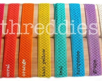 8 diamond-weave elastic infant/baby/child headbands OR oversized ponytail elastics // pick your colors // no metal