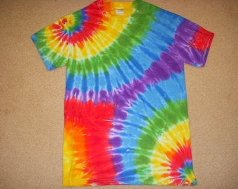 S tie dye t-shirt, mirror swirl, small