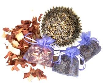 Yarn Fiber Sachets, Moth repellent, Lavender, Cedar, Wedding Favors, 3 sachets