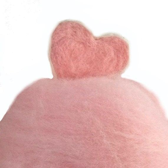 Needle Felting fiber, Make your own Valentines, DIY, Christmas ornaments, fiber art, wool, pink, red, white