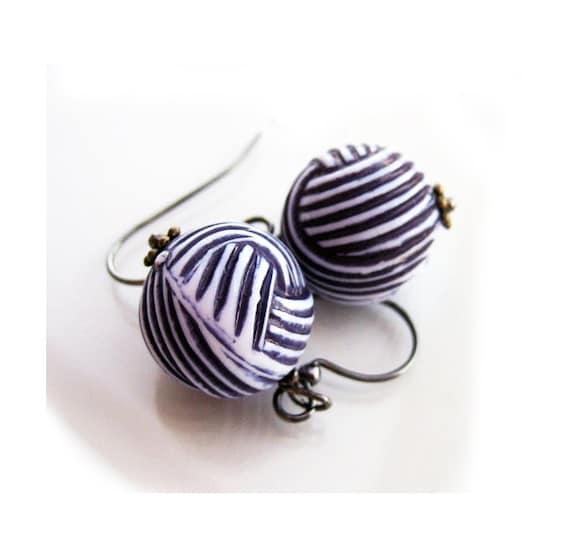Nautical Earrings, Dangle Earrings, Navy Earrings, Nautical Sailor