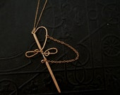 Vintage Wire Wrap Sword Necklace