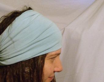 Buff - HeadBand - DreadBand - Hair Tube - Cowl - Cloudy Blue Organic Head Hugger XL