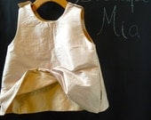Reversible Swing Top - Dupioni Raw Silk - Pick the size Newborn up to 8 Years by Boutique Mia