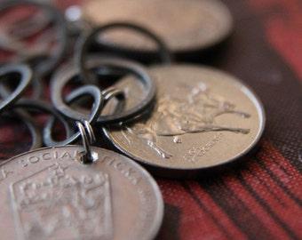 Gypsy Coin Bracelet Antiqued Silver Version