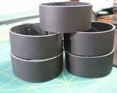 Wholesale 5 Leather Bracelet 1 inch wide Cuff Blanks Adjustable Black