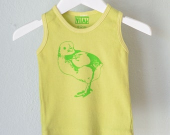 SALE Spring Chicken Tank - 6-12 mo hand dyed infant tank top