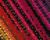 BPRB0016 Rainbow 16 Even Count Single Drop Peyote Cuff/Bracelet Pattern