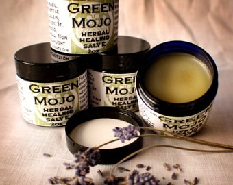 Green Mojo herbal healing salve