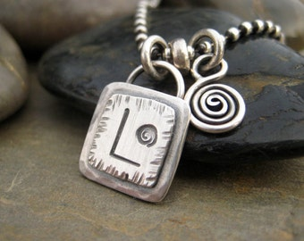 Personalized Monogram Charm Add On Sterling Silver