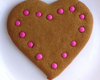 GINGERBREAD HEARTS box of 6