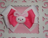 Easter Bunny Layered Boutique Bow