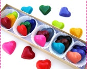 Kids' HEART CRAYONS - Set of (15) - Coloring Party Favors - Eco-Friendly Toys in Assorted Rainbow Colors - Arts & Crafts - Free Gift Box