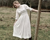Antique Edwardian Smocked Dress with Cross Stitching